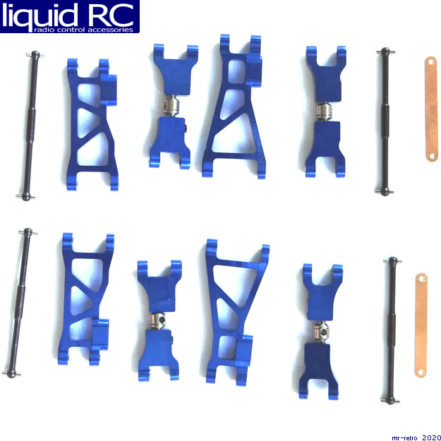Details about Hot Racing MFD5467W06 Aluminum Wide Suspension Kit (Blue) -  Losi 1/24 Micro