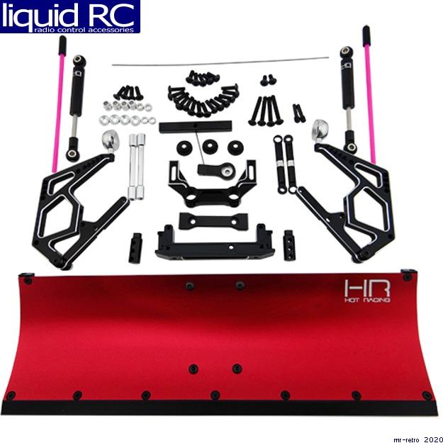 Hot Racing SCX1213P02 CNC Aluminum rosso Snow PlowII